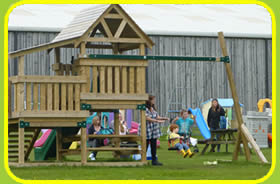 Outdoor playarea at the Tamar Valley Donkey Park